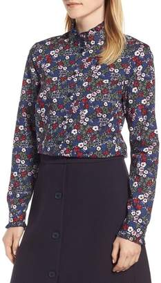 1901 Ruffled Floral Cotton Blouse