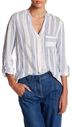 Socialite Metallic Striped Gauze Blouse