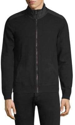 Belstaff Coomberwood Shoulder Patch Merino Wool Bomber Jacket