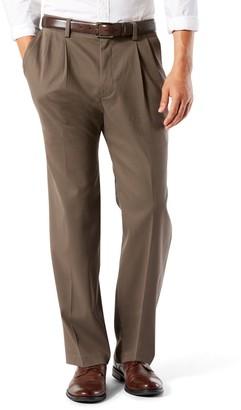 Dockers Big & Tall Stretch Easy Khaki D3 Classic-Fit Pleated Pants