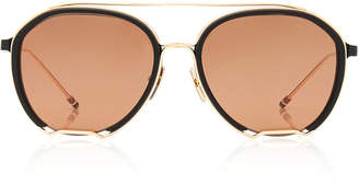 Thom Browne Acetate And Metal Aviator Sunglasses