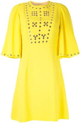 Andrew Gn eyelet detailed mini dress