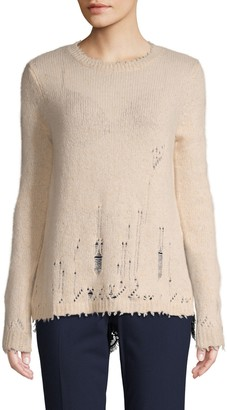 Autumn Cashmere Distress Layered Cashmere Sweater
