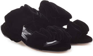 Nicholas Kirkwood Courtney Velvet Sandals
