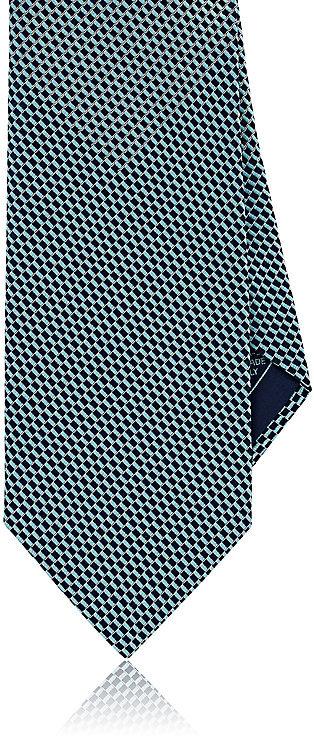 BrioniBrioni Men's Basket-Weave-Pattern Silk Necktie