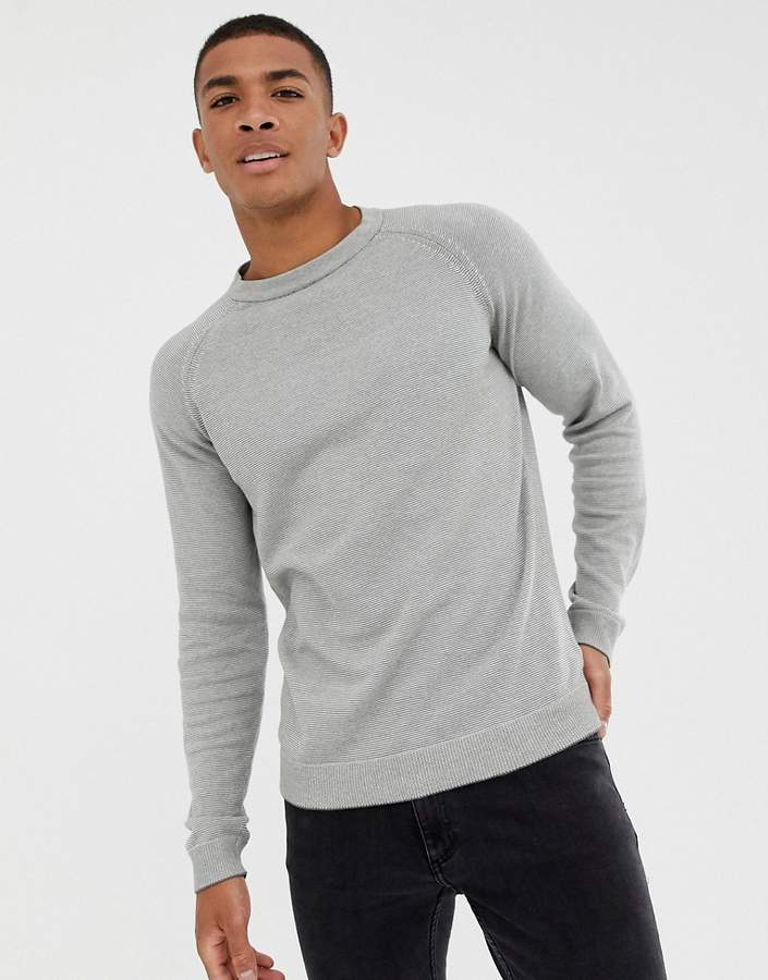 Selected Homme Selected Stripe Crew Neck Sweater