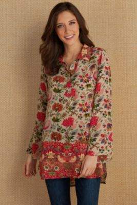 Soft Surroundings Afternoon Tea Tunic