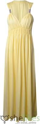 Outofgas Womens Sleeveless Spring Coil Maxi Dress Ladies Long Jersey Stretch Maxi Dress : Regular