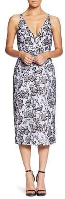 Dress the Population Nadia Plunge V-Neck Lace Dress