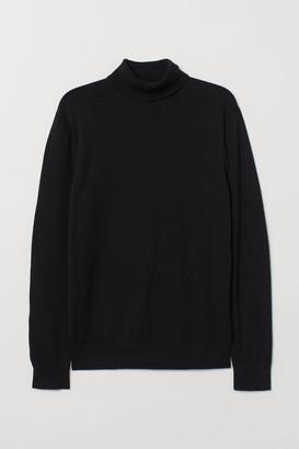H&M Premium Cotton Turtleneck - Black