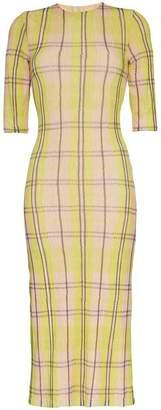 DAY Birger et Mikkelsen Supriya Lele Check print chiffon midi dress