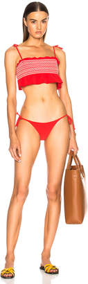 Lisa Marie Fernandez Selena Smocked Bikini Set