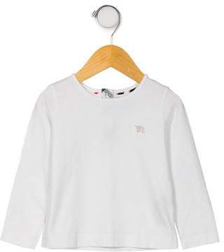 Burberry Girls' Long Sleeve Crew Neck Top