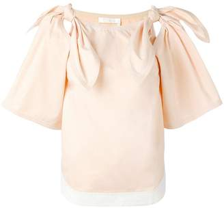 Chloé bow shoulder blouse