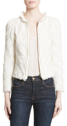 Women's Rebecca Taylor Fringe Tweed Jacket $550 thestylecure.com