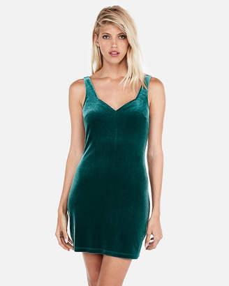 Express Velvet Sweetheart Sleeveless Dress