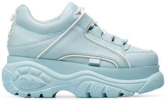 Buffalo David Bitton blue Classic leather platform sneakers