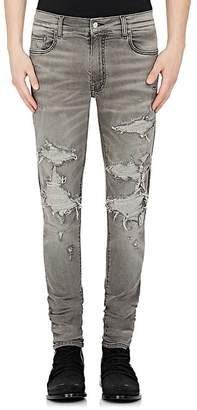 AMIRI Men's MX1 Wool-Cashmere Patch Skinny Jeans $1,195 thestylecure.com