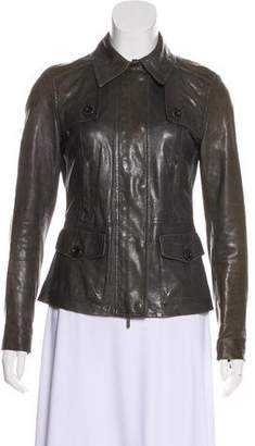Vince Collared Leather Jacket