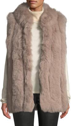 Belle Fare Long Sleeveless Fur Vest