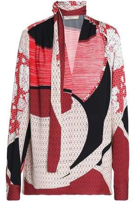 Emilio Pucci Pussy-Bow Silk-Blend Top