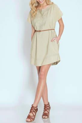 She + Sky Khaki Tunic Dress