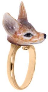 Nach Sale - Mini Fox Adjustable Porcelain Ring