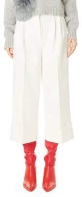 Tibi Cuffed Crop Tuxedo Pants