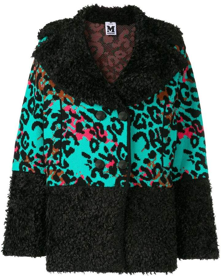 knitted leopard jacket