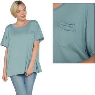 Peace Love World Short Sleeve Dolman Tee w/ Chest Pocket