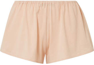 Skin - Karlie Organic Pima Cotton-jersey Pajama Shorts - Blush