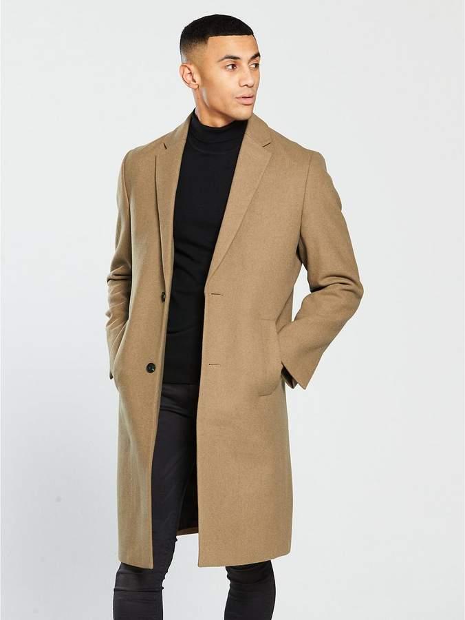 Longline Wool Mix Coat