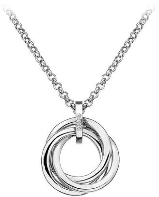 Hot Diamonds Sterling Silver Diamond Trio Ring Pendant