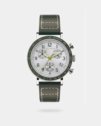 Ted Baker MARTEII Leather strap watch