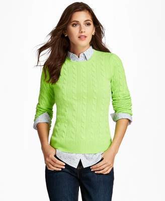 Brooks Brothers Cable-Knit Cashmere Sweater