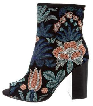 Rebecca Minkoff Floral Embroidered Ankle Boots