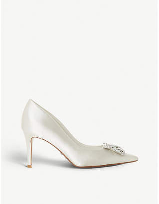 Dune Breanna embellished satin pointed-toe court shoes