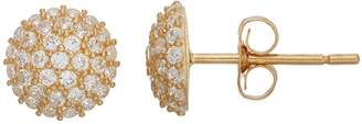 N. Gold Ice Gold 'N' Ice10k Gold Cubic Zirconia Dome Stud Earrings