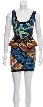 Herve Leger Aron Tribal Jacquard Dress