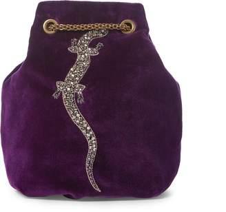 Ralph Lauren Embroidered Velvet Pouch