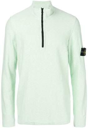 Stone Island zipped polo sweater