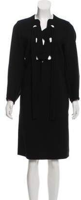 Derek Lam Lace-Up Shift Dress w/ Tags Black Lace-Up Shift Dress w/ Tags