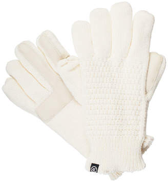 Isotoner Womens smartDRI Textured Knit Gloves with smarTouch Technology