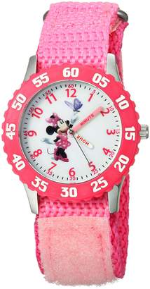 Disney Kids' W000025 Minnie Mouse Stainless Steel Time Teacher Watch