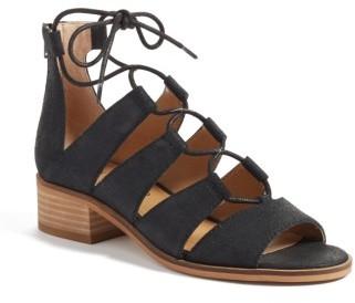Women's Lucky Brand Tazu Lace-Up Sandal $99.95 thestylecure.com