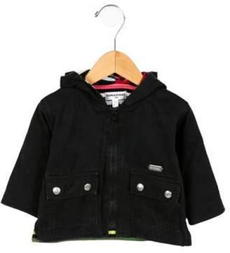 Sonia Rykiel Girls' Hooded Zip-Up Jacket black Girls' Hooded Zip-Up Jacket