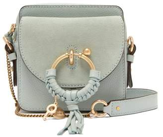 See by Chloe Joan Square Leather And Suede Cross Body Bag - Womens - Light  Blue 229cf8d84c