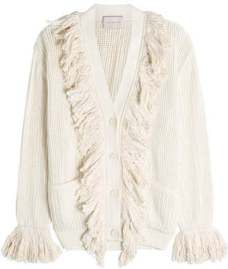 Christopher Kane Fringed Cotton Cardigan