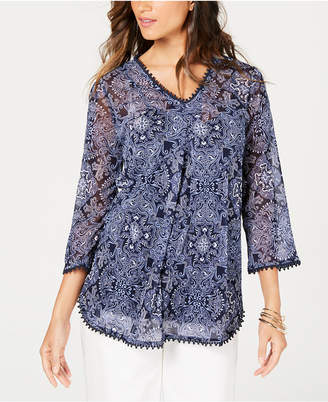 Charter Club Printed Tunic Camisole Top