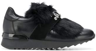 Baldinini embellished strap sneakers